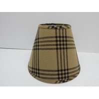 "Home Collection by Raghu Chesterfield Check Oat and Black 16"" Lampshade"