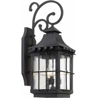 Elk 8451-E 26 by 10-Inch Taos Outdoor Wall Lantern with Seeded Glass, Espresso