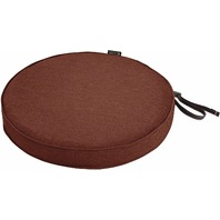 "Classic Accessories Montlake 18"" Round Cushion Foam & Slip Cover, Heather Henna"