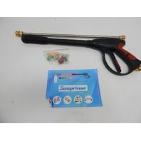 "Sooprinse High Pressure Washer Power Spray Gun 4000psi with 19"" Extension Wand"