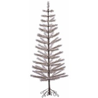 "Vickerman S151070 Champagne Feather Artificial Christmas Tree, 7' x 30"" BOX DMG"