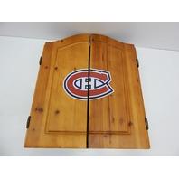 Imperial NHL Montreal Canadiens Steel Tip Bristel Dartboard Cabinet & Darts