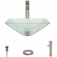 Mr. Direct 604-721-BN Bathroom Sink w/ 721 Brushed Nickel Vessel Faucet Ensemble