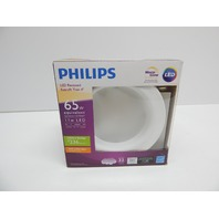 "Philips 801043 65W LED 4"" Downlight Recess Lighting Fixture, Soft White"
