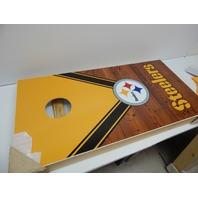 PROLINE NFL Pittsburgh Steelers 2'x4' Cornhole Board Set with Bluetooth Speakers