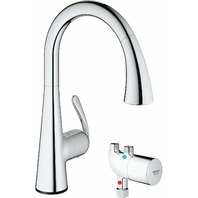 Grohe 30226000 Ladylux Cafe Touch Single-Handle Pull-Down Kitchen Faucet, Chrome