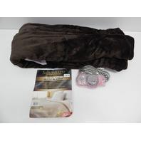Sunbeam Velvet Plush Heated Blanket , 10 Heat Settings, Walnut, Twin NO ORIG PKG