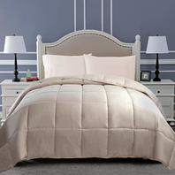 Superior Classic All-Season Down Alternative Full/Queen Comforter, Ivory OPENED