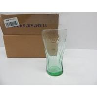 USA Glassware Embossed Coca-Cola Green Contour Glass 16oz Set, 3 ct