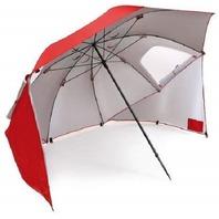 Sport-Brella 0700 Vented SPF 50+ Sun & Rain 8' Canopy Umbrella, Red MINOR HOLE