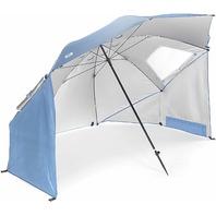 Sport-Brella XL 0736 Vented SPF 50+ Sun & Rain 9' Canopy Umbrella Blue BAG DMG5