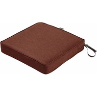 Classic Accessories Montlake 20x20 Seat Cushion Foam & Slip Cover, Heather Henna