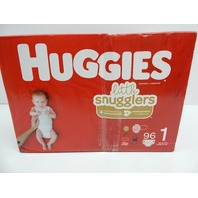 Huggies 49738 Little Snugglers Baby Diapers, Size 1 up to 14 lb, 96 Ct  BOX DMG