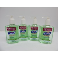 PURELL Advanced Hand Sanitizer Soothing Gel 8 fl oz Pump Bottle (Pack of 4)