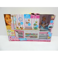 Barbie FRH73 Kitchen Playset with Doll, Food Molds, 5 Dough Colors BOX DMG