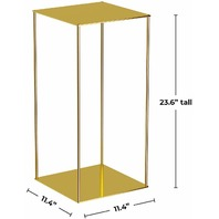 Excellent Designs Gold Metal Stand for Home & Wedding Decorations BOX DAMAGE