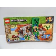 LEGO 21155 6287430 Minecraft The Creeper Mine Building Kit (834 Pieces) BOX DMG