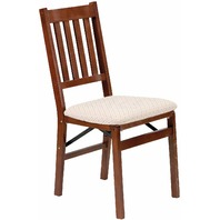 Stakmore 4540.6H792 Arts and Craft Folding Chair, Set of 2, Cherry BOX DMG
