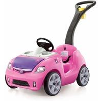 Step2 824299 Whisper Ride II Ride On Push Car, Pink BOX DAMAGE