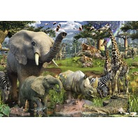 Ravensburger at The Waterhole - 18000 Piece Jigsaw Puzzle for Adults BOX DAMAGE