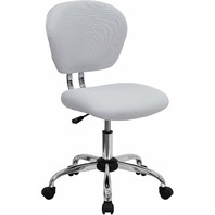 Flash Furniture Mid-Back White Mesh Padded Swivel Task Office Chair BOX DMG