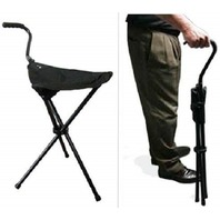 The Stadium Chair Company WC1 Portable Walking Chair Cane Stool, Black