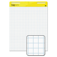 "Post-it Super Sticky White Grid Easel Pad, 25x30"", 30 Sheets/Pad, 3 Pads"