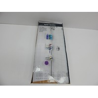 Home Basics SC41240 3 Tier Tension Rod Chrome Shower Storage BOX DAMAGE