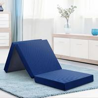 Olee Sleep VC04TM02S-N Tri-Folding Memory Foam Mattress Topper,75x25x4''  Blue