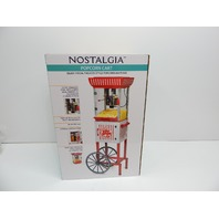 Nostalgia PC25RW 2.5 oz Popcorn & Concession Cart, Red/White MINOR SCRATCH