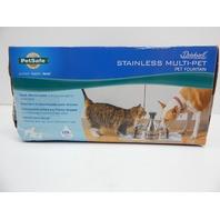 PetSafe PWW00-13705 Drinkwell Stainless Multi-Pet Water Bowl Fountain BOX DAMAGE