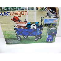 Mac Sports WTC-111 Collapsible Folding Outdoor Utility Wagon, Blue BOX DAMAGE