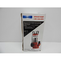 Hallmark Industries MA0387X-9 Sewage Pump, 1hp, 115V, with Float Switch BOX DMG