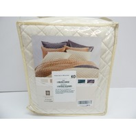 HiEnd Accents FB6300-FQ-CR Velvet Diamond Quilt, Full/Queen, Cream