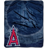 The Northwest Company MLB Los Angeles Angels Retro Plush Raschel Throw Blanket