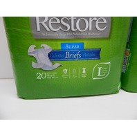 """Medline FitRight Restore Adult Briefs with Tabs,  Large, 48""""-58"""", 40 ct"""