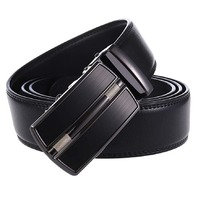 Beatrbior Men's Automatic Buckle Leather Ratchet Dress Belt, Black