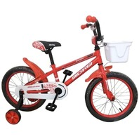 "Micargi Jakster-B-16-RD 16"" BMX Steel Frame Bicycle with Training Wheels, Red"