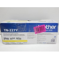 Brother Genuine TN227Y High Yield Yellow Toner Cartridge BOX DAMAGE