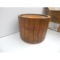 "MinxNY VHX202 Fiberstone 16"" Round Pot Artificial Wood Planter OPEN BOX"