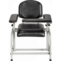 AdirMed 997-01-BLK Padded Blood Drawing Chair, Black BOX DAMAGE