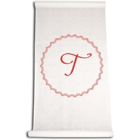 Ivy Lane Design Wedding Accessories Aisle Runner with Initial, Letter T, Red