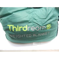 """Thirdream 15lbs, 48 x 72"""" Adult Weighted Blanket w/ 2 Removable Covers, Grey"""