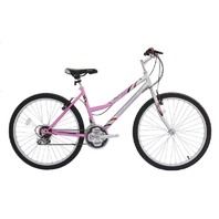 "Micargi M50-F-PK 26"" Women's 18 Speed Steel Frame Mountain Bicycle Bike, Pink"