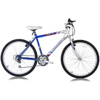 "Micargi M50-M-BL 26"" Men's 18 Speed Steel Frame Mountain Bicycle Bike, Blue"