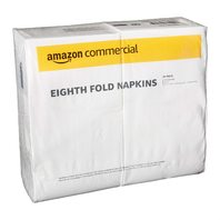 AmazonCommercial Eighth Fold Napkins, 100 Napkins per Pack, 24 Packs