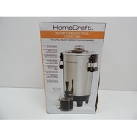 HomeCraft CU30SS Quick-Brewing 1000W Auto Coffee Urn, 30-Cup, Stainless BOX DMG