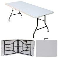 "Ontario Furniture ONT-TAB49 30""x 96"" Plastic Folding Table, White"