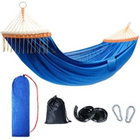 NOBLE DUCK TOURIT Lightweight Portable Camping Double Hammock with Tree Straps