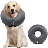 MIDOG Pet Inflatable Soft Protective Recovery Collar for After Surgery, Large